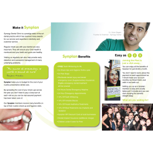 Enjoy high quality dental treatment whenever you need it from only £11.99 a month