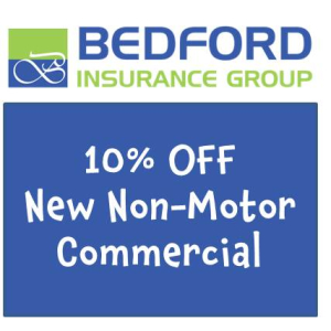 10% OFF – Commercial Non-Motor Insurance with Bedford Insurance Group