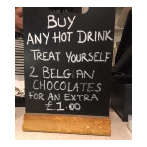 Enjoy finest Belgian chocolates for just a £1