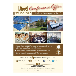 Special Offers on Conferences from The Last Drop