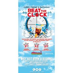 Beat the Clock at Manhattan's Walsall every Friday and Saturday