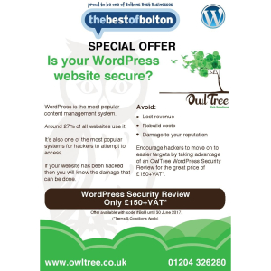 Wordpress Security Review only £150 + VAT