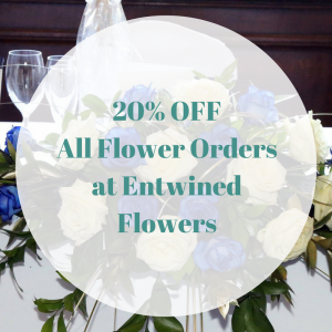 20% DISCOUNT on all flower orders at Entwined Flowers in Walsall Wood