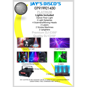 Platinum Party Package from Jay's Disco's from ONLY £310