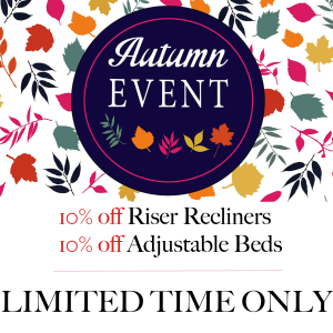 10% off riser recliners and adjustable beds