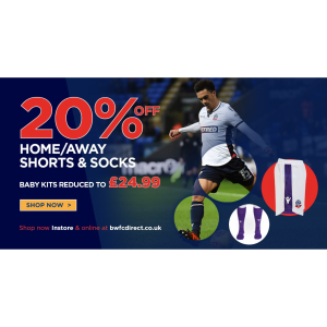 20% Off Home/Away Shorts and Socks