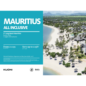Save up to £2507 from London Heathrow to Mauritius