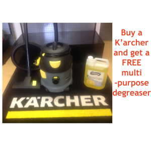 Get a FREE Degreaser [worth £11.25+ VAT] with every K'a'rcher T20 Tub Vacuum Cleaner