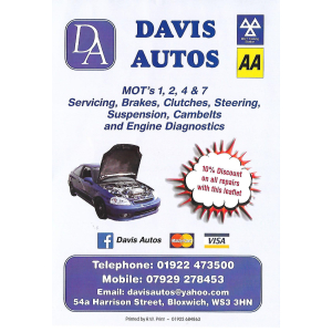 10% off all Car Repair Services at Davis Autos