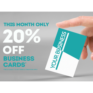 20% off Business Card printing