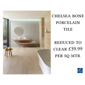 Reduced to Clear: £39.99 Chelsea Bone Tile