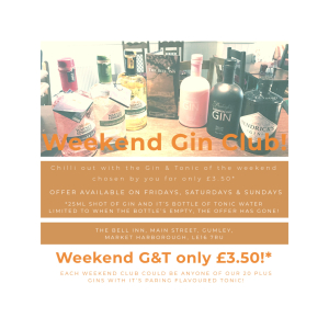 Week-End Gin Club at The Bell Inn, Gumley