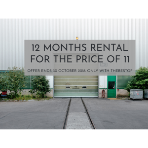 12 MONTHS RENTAL FOR THE PRICE OF 11 MONTHS