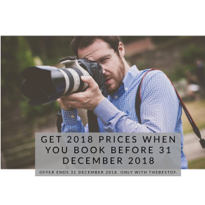 Book before 31/12/2018 to get 2018 prices in 2019+
