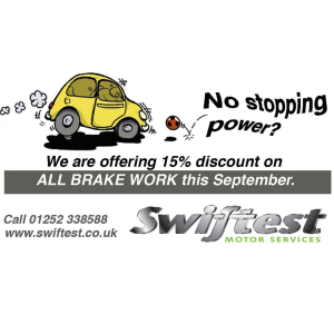 15% Off Brake Fees at Swiftest Motor Services