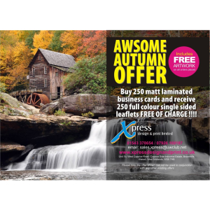 Awesome Autumn Offer! Includes free artwork...