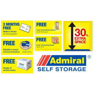 Great offers at Admiral Self Storage!
