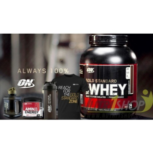 Optimum Nutrition Gold Standard Whey Protein 2.27kg PLUS FREE Gifts just £46.63