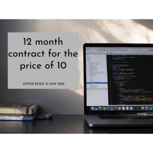 12 month contract for the price of 10