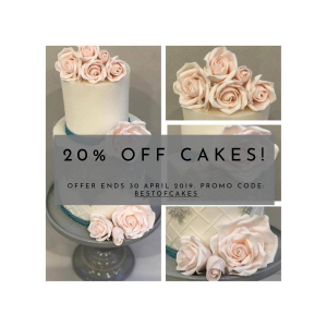 20% off cakes