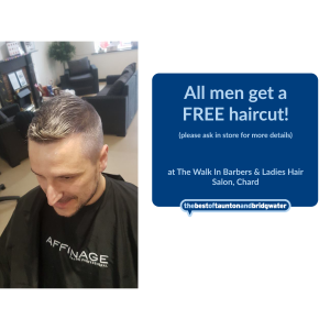 FREE haircut for men!