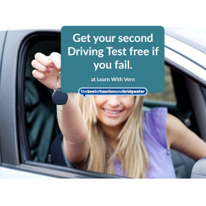 Get your second Driving Test free if you fail.