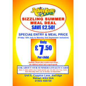 SIZZLING SUMMER MEAL DEAL AT ADVENTURELAND