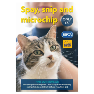 Spay, Snip & Microchip for just £5