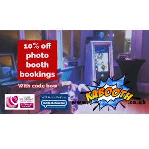 10% off all bookings at Kabooth Photo Booth