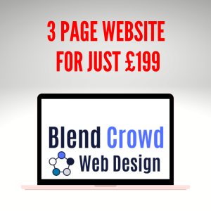 3 page website just £199 at Blend Crowd Web Design