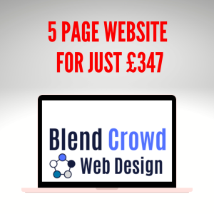 5 page website just £347 at Blend Crowd Web Design