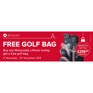 Free Motocaddy bag with any lithium battery golf trolley