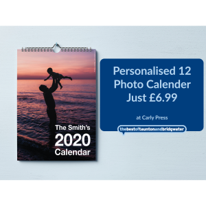 Personalised 12 Photo Calender - Just £6.99
