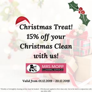 15% OFF YOUR CHRISTMAS CLEAN