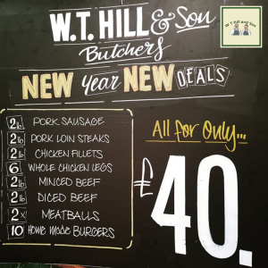 New Year Deals at WT Hill & Son Butchers!