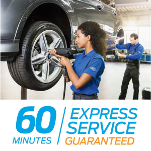 Our FORD EXPRESS SERVICE gives you GUARANTEED SERVICING IN 1 HOUR