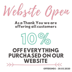 10% off all orders made through Dotty May Baby Boutique's website!