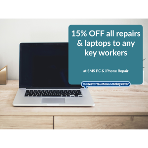 15% OFF all repairs AND laptops to any key workers