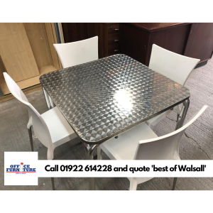 Outdoor Table and Chair set just £90 plus VAT at Office Furniture New and Used!