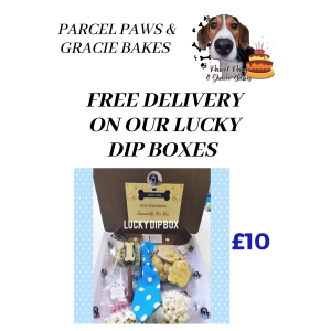 Free Delivery on Parcel Paws & Gracie Bakes Lucky Dip Boxes!