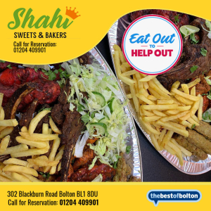 Eat Out To Help Out - Shahi Sweets & Bakers