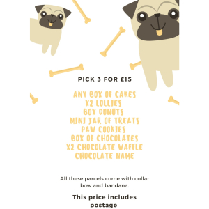 Pick 3 for £15 at Parcel Paws & Gracie Bakes