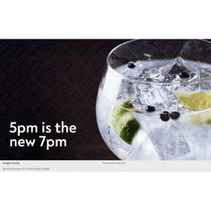 25% off Drinks between 5pm and 7pm