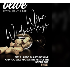Wine Wednesday is here at Olive again!