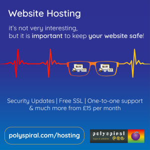 Hosting from £15 per month from Polyspiral Ltd