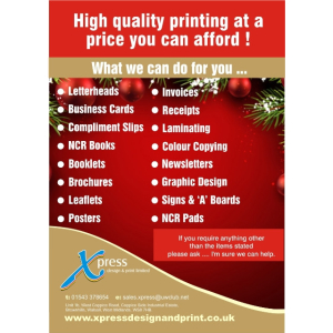 High quality printing at a price you can afford at Xpress Design & Print!