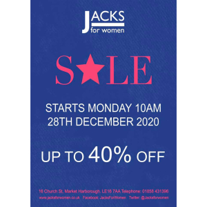 WINTER SALE NOW ON at JACKS FOR WOMEN