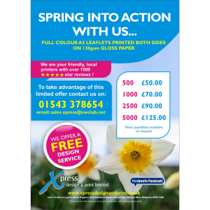 Spring into action this month with the help of Xpress Design & Print!
