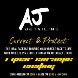 Correct & Protect Package Starting at £300 With AJ Detailing!