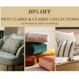 10% Off New Clarke & Clarke Fabric Collections